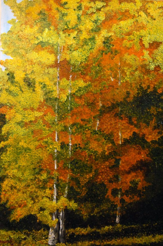 Oil Painting. Commissionaires Park, Ottawa, Ontario.